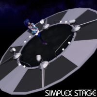 MMD Simplex Stage by Trackdancer