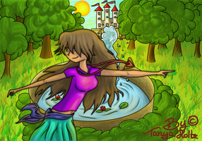 The Castle Fountain Dance by TanyaWolfMystery