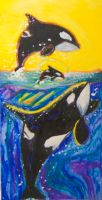 Orca MELTED CRAYON ART!!!!!!!!!!!!! by ArtisinmyHeart