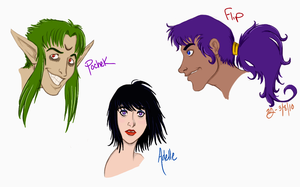 More redrawn old characters by KellyDawn