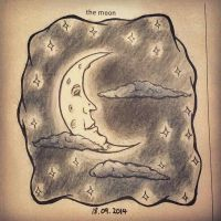 642 Things To Draw - The Moon by kastubbins
