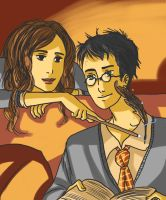 Harry And Hermione by EtaCephei
