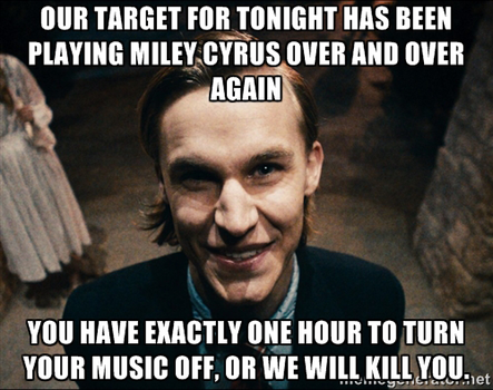 Polite Leader's Warning About Miley Cyrus by FearOfTheBlackWolf
