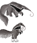 Anteater with Rollerskates by Weretiger101