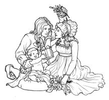 A Desmoulins Christmas lineart by jamberry-song