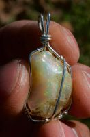 Welo opal pendant R by lamorth-the-seeker