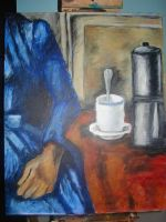 Woman with Coffeepot by crustalicious5