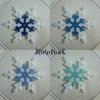 Blue Snowflakes by PerlerPixie