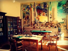 Reading Room in the Library (Pula) by nezumixx