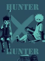 Gon and Killua-Hunter x Hunter by witchofwest