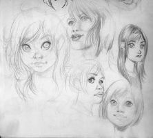 Sketch Faces 1 by cynobi