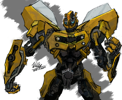 Bumblebee stand guard by Willatorx