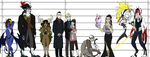 OC Height Chart V by PrehistoricPlague