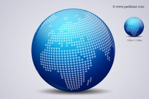 Glossy World Globe Icon (PSD) by psdblast