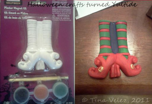 Halloween Craft turned Yuletide Craft by TinyAngel21
