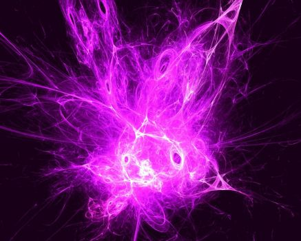 Purple and Black Fractal by fractaljunkie