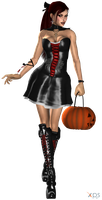 Lara Halloween Dress WIP 3 by ZayrCroft