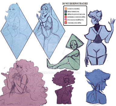 Steven Universe || Collab Sketches Dump by H0nk-png