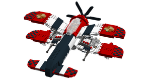 LEGO Crimson Skies - Hughes P-21 Devastator 3.0 by Aryck-The-One