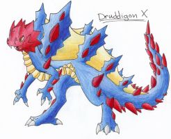 Druddigon X by CelestialTentails