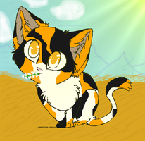 MEH KITTEH, she be pretty at by Speckledleaf