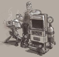 sketchdump 17 - boss engineer by KGBigelow