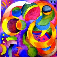 Abstract Study of Shapes and Color by JMPorter