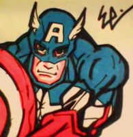 Captain America Post-It by dark-es-will