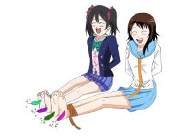 Onodera and Nico tickled by tgohan