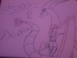 A girl and her Flygon by WeavileScrafty