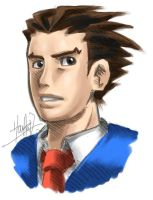 Phoenix Wright by hahahayuus
