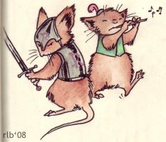 Mouse Guard - Martin and Gonff by Kobb