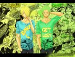 Zoro and Sanji by spider999now