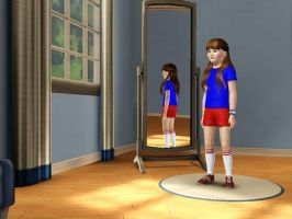 Sims 3 - Denise Nickerson in athletic outfit 1 by Magic-Kristina-KW