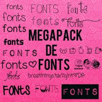 MEGAPACK DE FONTS! by breathingstarlight