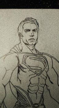 Crater City Comix Tombs WIP Superman ink by Wolfgang-Blaine