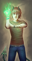 Green flames by Topazice