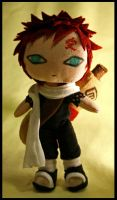 Mini-plush prototype-- Gaara by pheleon
