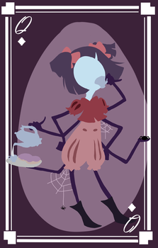 Muffet the Queen of Diamonds by pika-chan2000