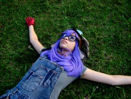 Lying on the grass by Teodorak