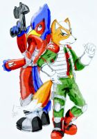 Starfox and Falco by MintyMaguire