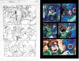 Mega Man 22 pg15  pencil and colors by RyanJampole