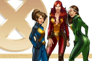 X-Men: Phoenix Shadowcat Rogue by Markovah
