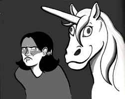 Magical Moon Unicorn and Margaret by LB-Lee