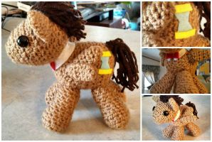 Doctor Whooves crocheted MLP by Lumos5000