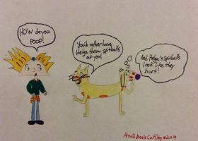 Arnold Meets CatDog by whiskdow