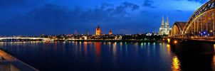Cologne city panorama by NicoW92