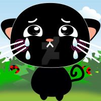 Exoro Designs Emoticons Cat - Crying by ExoroDesigns