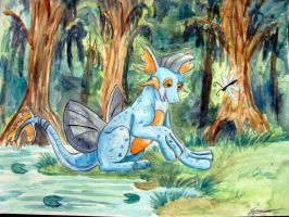 First Time on Land Marshtomp Neopets by Emakura
