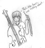 Joshua and his Bass by FlamingStars